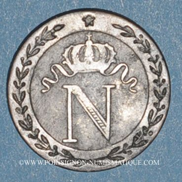 Monnaies 1er empire (1804-1814). 10 cmes 1809Q. Perpignan