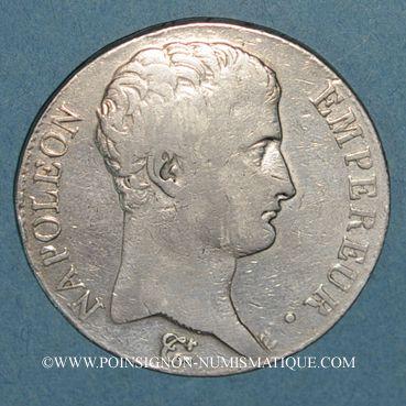 Monnaies 1er empire (1804-1814). 5 francs tête nue an 13M. Toulouse