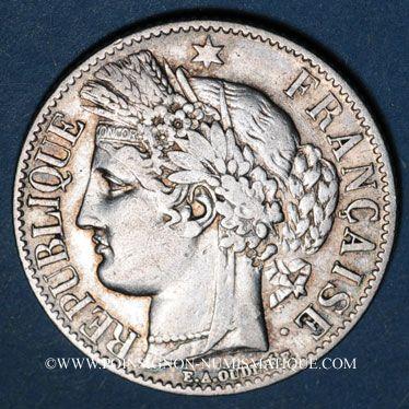 Monnaies 2e république (1848-1852). 1 franc 1850A