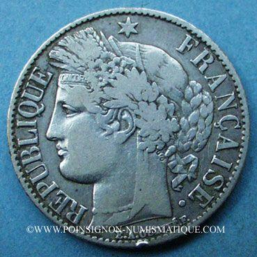 Monnaies 3e république (1870-1940). 1 franc Cérès, 1887A