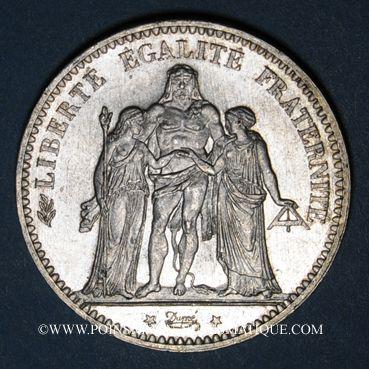 Monnaies 3e république (1870-1940). 5 francs Hercule, 1876A