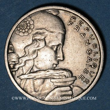 Monnaies 4e république (1947-1959). 100 francs Cochet 1958B