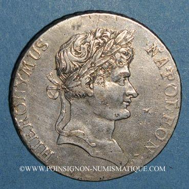 Monnaies Allemagne. Westphalie. Jérôme Napoléon (1807-1813). Taler, 4e type, 1811C. Cassel