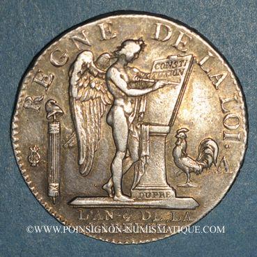 Monnaies Constitution (1791-1792). 1/2 écu de 3 livres type FRANCOIS 1792A. 2e semestre