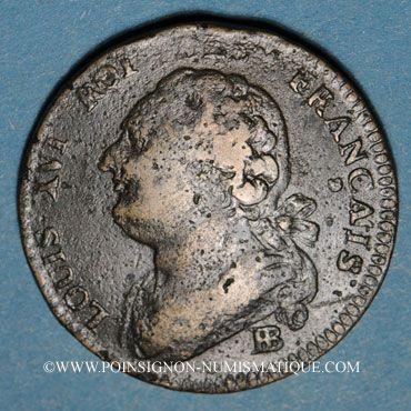 Monnaies Constitution (1791-1792). 12 deniers 1792BB. Strasbourg. Type FRANCAIS