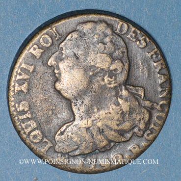Monnaies Constitution (1791-1792). 2 sols 1792B. Rouen. Type FRANCOIS