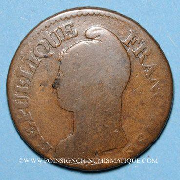 Monnaies Consulat (1799-1804). 5 centimes an 9G. Genève
