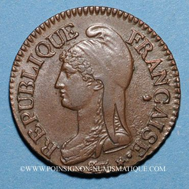 Monnaies Directoire (1795-1799). 5 centimes an 7/5 A