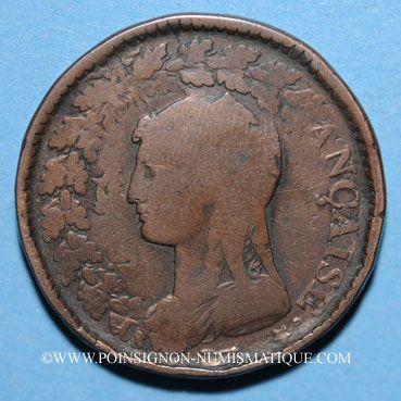 Monnaies Directoire (1795-99), UN décime surfrappé sur 2 DECIMES an 5A