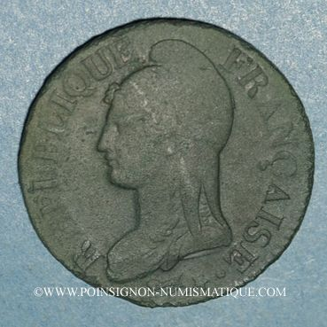 Monnaies Directoire & Consulat. 5 centimes an 8BB. Strasbourg