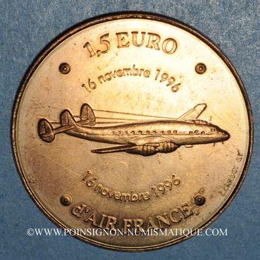 Monnaies Emetteurs privés. Air France. 1,5 euro 1996