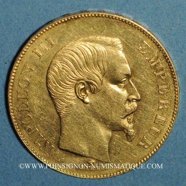 Monnaies 2e empire (1852-1870). 50 francs Napoléon III tête nue 1857A. (PTL 900 /1000. 16,12 g)