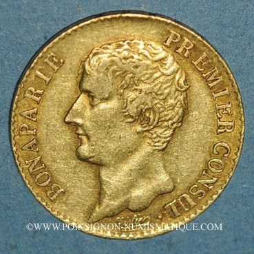 Monnaies Consulat (1799-1804). 20 francs an 12A. (PTL 900 /1000. 6,45 g)