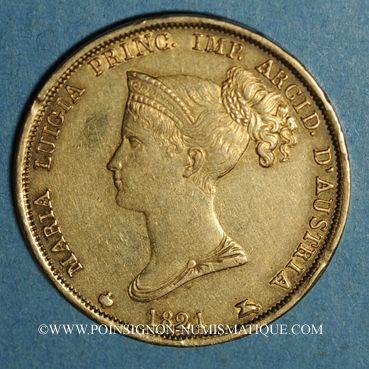 Monnaies Italie. Duché de Parme. Marie Louise (1815-1847). 40 lires 1821. Milan (PTL 900‰. 12,90 g)