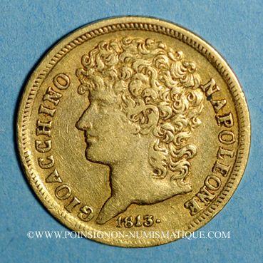 Monnaies Italie. Roy. de Naples & Deux Siciles. Joachim Murat (1808-1815). 20 lire 1813 (PTL 900‰. 6,45 g)