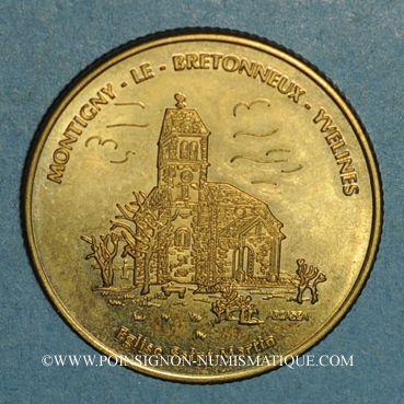 Monnaies Euros des Villes. Montigny-le-Bretonneux (78). 1,5 euro 1997