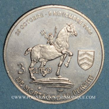 Monnaies Euros des Villes. Mortagne-au-Perche (61). 3 euro 1996