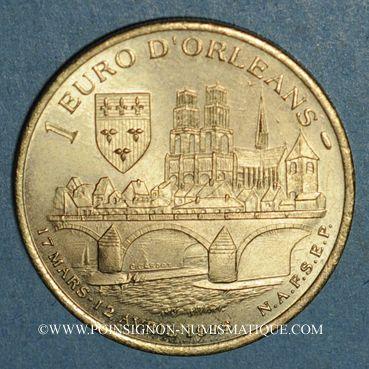 Monnaies Euros des Villes. Orléans (45). 1 euro 1998