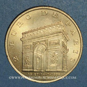 Monnaies Euros des Villes. Paris (75). 1 euro 1996