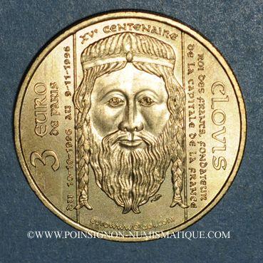 Monnaies Euros des Villes. Paris (75). 3 euro 1996