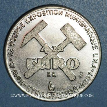 Monnaies Euros des Villes. Strasbourg. 4 2/3 euros 1997