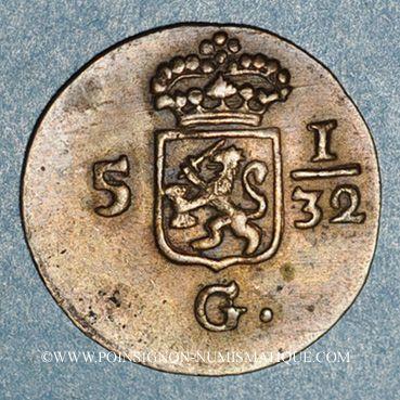 Monnaies Indes Neerlandaises. Louis-Napoléon (1806-1810). 1/2 duite 1808