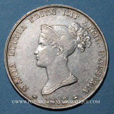Monnaies Italie. Duché de Parme, Plaisance et Guastalla. Marie-Louise, 5 lires 1832