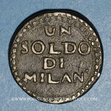 Monnaies Italie - Mantoue. 2e siège. 1799. 1 soldo n. d.