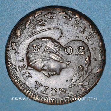 Monnaies Italie. République de Rome (1798-1799). 2 baiocchi (1799)