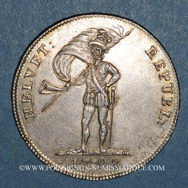 Monnaies Suisse. République Helvétique (1798-1803). 20 batz 1798S. Soleure