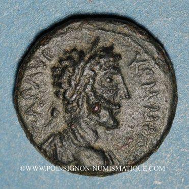 Monnaies Commode (177-192). Bronze. Neapolis (Samarie). R/: Tyché en habit militaire