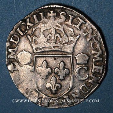 Monnaies Charles IX (1560-1574). Teston, 1er type. 1562K. Bordeaux. Légende fautive !