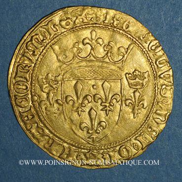 Monnaies Charles VII (1422-1461). Ecu d'or. 3e émission. Paris, point 18e
