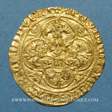 Monnaies Charles VII (1422-1461). Ecu d'or. 3e émission. Toulouse, point 5e