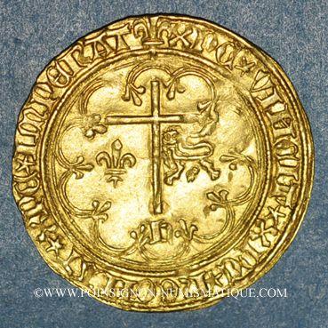 Monnaies Henri VI d'Angleterre (1422-1453). Salut d'or 2e émission. Saint-Lô