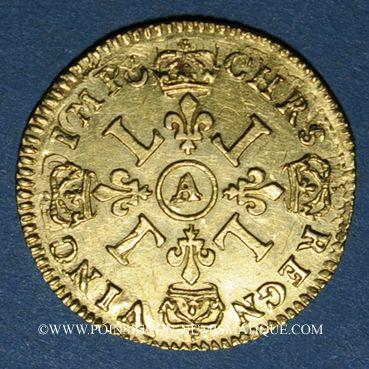 Monnaies Louis XIV (1643-1715). 1/2 louis d'or aux 4L 1694A. Réformation