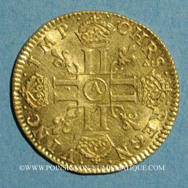 Monnaies Louis XIV (1643-1715). Louis d'or à la mèche longue 1651A