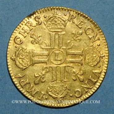 Monnaies Louis XIV (1643-1715). Louis d'or juvénile lauré 1670L. Bayonne