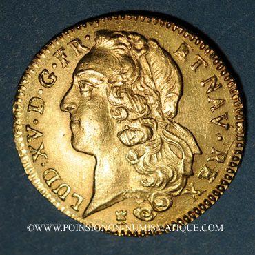 Monnaies Louis XV (1715-1774). Double louis au bandeau 1770 I. Limoges