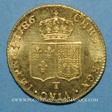 Monnaies Louis XVI (1774-1793). Double louis d'or à la tête nue 1786T. Nantes, 2e semestre