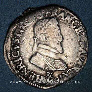Monnaies Henri IV (1589-1610). 1/2 franc 1603&. Aix