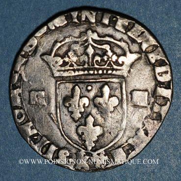 Monnaies Henri IV (1589-1610). 1/4 d'écu, 2e type, 1605K. Bordeaux