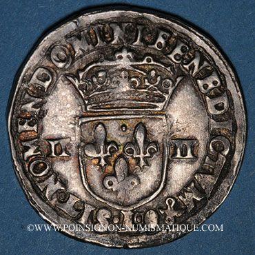 Monnaies Henri IV (1589-1610). 1/4 d'écu, 2e type, 1610L. Bayonne