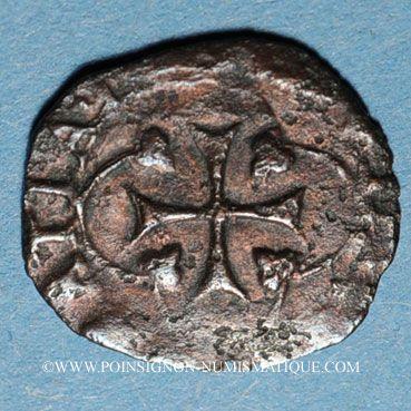 Monnaies Henri IV (1589-1610). Vaquette de Béarn, 2e type, n. d. Morlaas