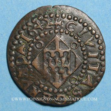 Monnaies Louis XIII (1610-1643). Comté de Barcelone. Sizain 1642. Gérone