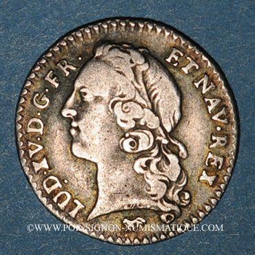 Monnaies Louis XV (1715-1774). 1/20 écu au bandeau 1747 A. 2e semestre