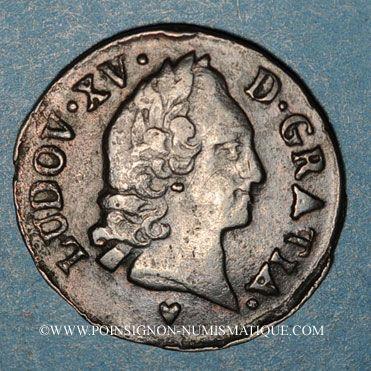 Monnaies Louis XV (1715-1774). Liard d'Aix 1767 &
