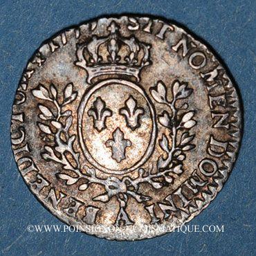 Monnaies Louis XVI (1774-1793). 6 sols à la vieille tête de Louis XV 1779A. 2e semestre