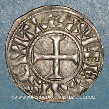 Monnaies Philippe I (1060-1108). Denier, 2e type. Orléans