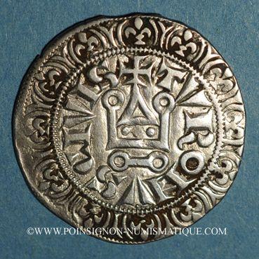 Monnaies Philippe IV le Bel (1285-1314). Gros tournois à l'O rond